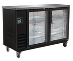 Medium Swing Door Black Bar Cooler