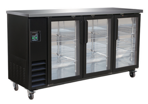 Large Swing Door Black Bar Cooler