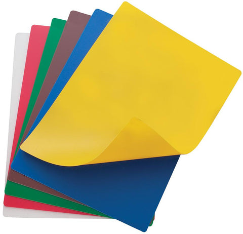 Assorted 6 Piece Flexible Coloured Cutting Board