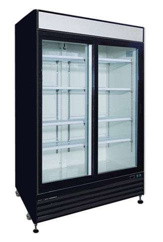 48ft³ Sliding Glass Door Refrigerator Merchandiser