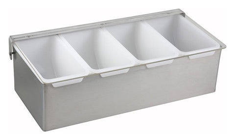 Stainless Steel Multi-Compartment Condiment Holders