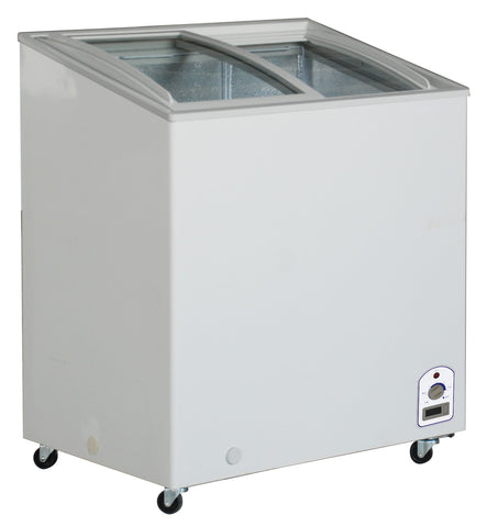 "Sub-equip 148L Curve Top Sliding Glass Chest Freezer (30""W x 22""D x 36.75""H)"