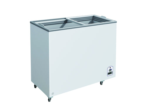 "Sub-equip 332L Flat Top Sliding Glass Chest Freezer (55""W x 26""D x 35""H)"