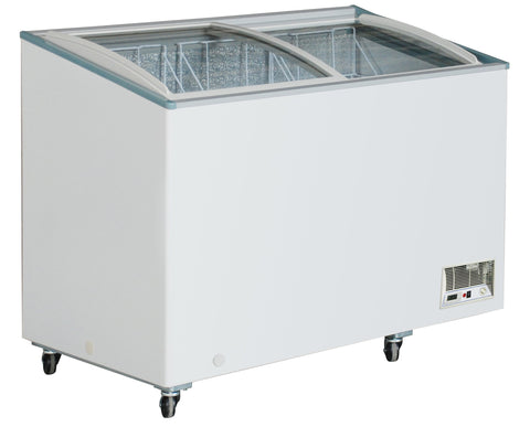 "Sub-equip 298L Curve Top Sliding Glass Chest Freezer (37""W x 26""D x 36.75""H)"