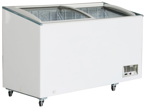 "Sub-equip 398L Curve Top Sliding Glass Chest Freezer (55""W x 26""D x 36.75""H)"