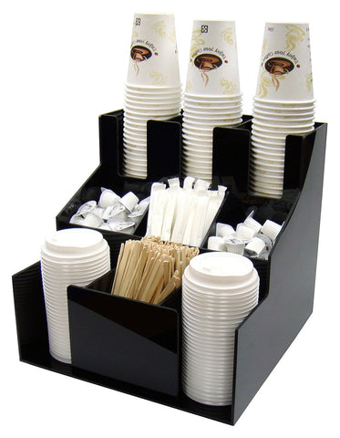 Cup & Lid Organizer with 3 Tiers & 3 Stacks
