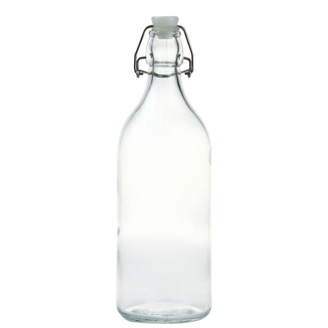 Glass Bottle with Stopper 1.1L