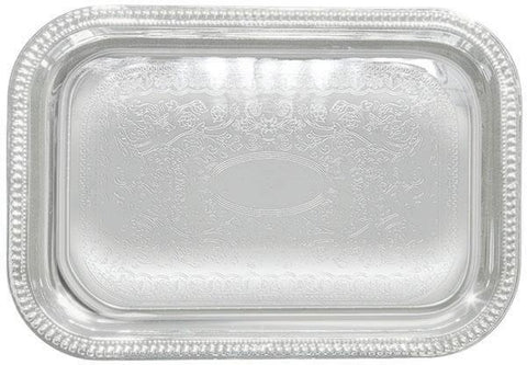 "Chrome Plated Serving Tray 20"" x 14"""