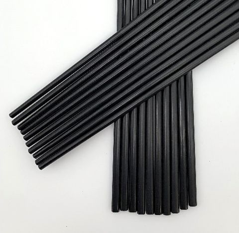 "Black Melamine Chopsticks, 10 Pairs (9""-10"" long)"
