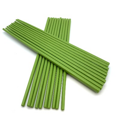 "Green Melamine Chopsticks, 10 Pairs (10"" long)"