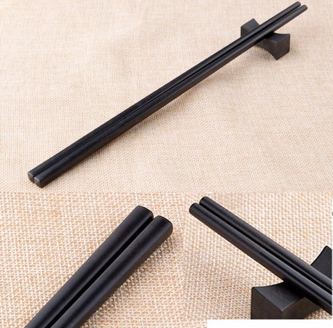 "Black Alloy Chopsticks, 10 pairs (9.5""-10.75"")"