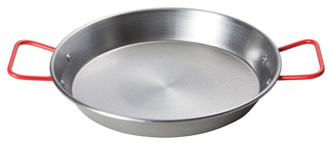 Paella Pan with Polished Carbon Steel