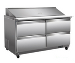 "60"" Mega Top Cooler Sandwich Prep Table with Drawers"