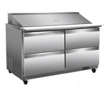 "48"" Mega Top Cooler Sandwich Prep Table with Drawers"