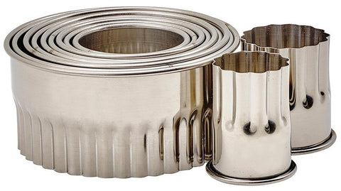 "Stainless Steel 1"" Height Cookie Cutter 11 Peice Set"