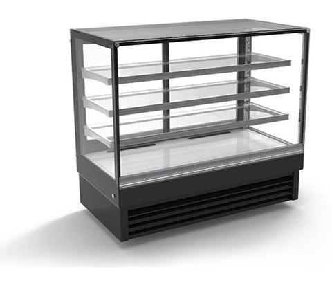 "48"" Flat Glass Cake Display Cooler"