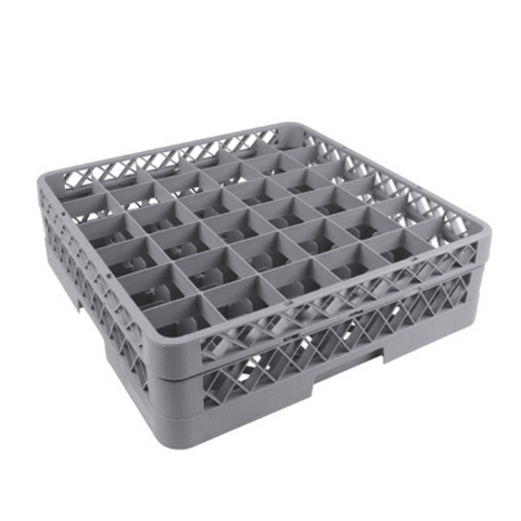 36 Compartment Glass Washing Rack with Rack Extender