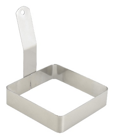 "Stainless Steel Square Egg Ring (4"" x 4"" x 1"")"