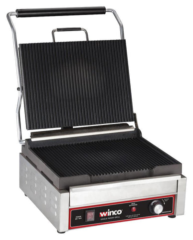 Panini Grill with Ribbed Plates