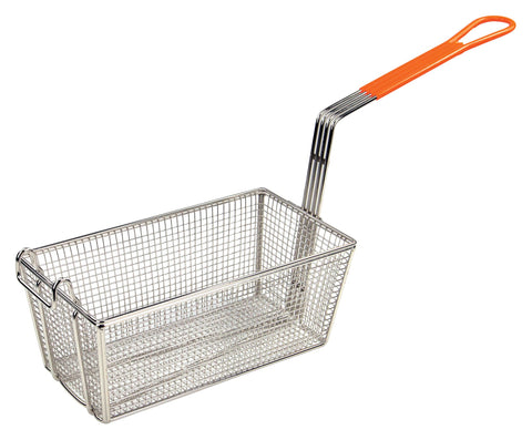"Fry Basket with 10"" Orange  Handle (12-1/8""L x 6.5""W x 5-3/8""H)"