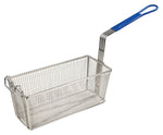 "Fry Basket with 10"" Blue Handle (13.25""L x 5-5/8""W x 5-5/8""H)"