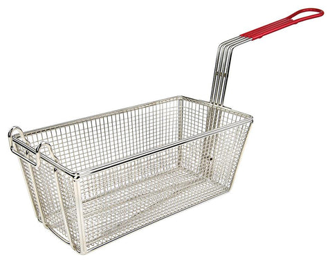 "Fry Basket with 10"" Red  Handle (12-7/8""L x 6.5""W x 5-3/8""H)"