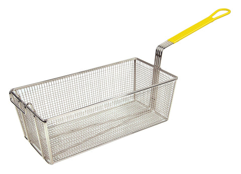 "Fry Basket with 12"" Yellow  Handle (17""L x 8.25""W x 6""H)"