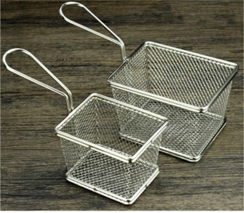 Mini Square Fry Serving Basket