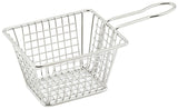 "Winco Mini Rectangular Fry Serving Basket (5""L x 4""W x 4""H)"