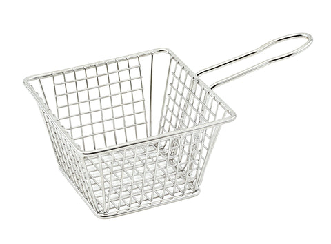 "Winco Mini Square Fry Serving Basket (5""L x 5""W x 4""H)"