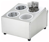 Flatware Holder Stainless Steel with 4 Slots