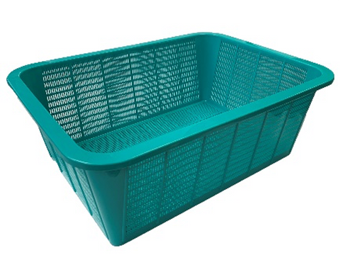 Green Rectangular Vegetable Wash Basket (49cmL x 37cmW x 18cmH)