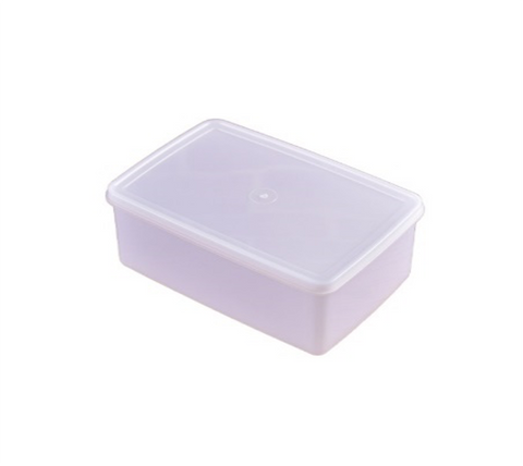 White Polypropylene Food Storage Container Set with Lid (1.25L-10L)