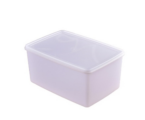 White Polypropylene Deep Food Storage Container Set with Lid