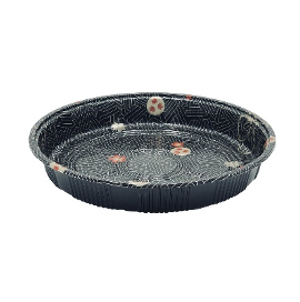 Plastic Round Sushi Tray with Lid