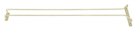 "Brass Plated 24"" Single Channel Wire Glass Hanger"