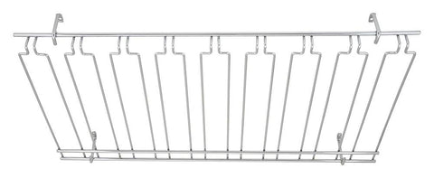 Overhead Glass 8 Channel Racks Chrome Plated