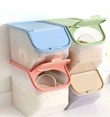 Milk Tea Storage Bin with Lid