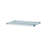 "Green Epoxy Coated Wire Shelving 18"" Width"