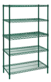"Green Epoxy Coated Wire Shelving 24"" Width"