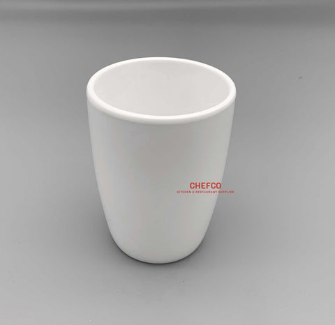 White Melamine Tapered Tea Cup