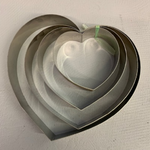 Heart Shape Cake and Pastry Ring Mold (4 Pieces)