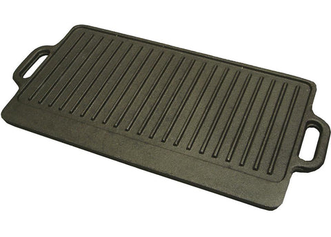 "Cast Iron Reversible Griddle/Grill 20"" x 9.5"""