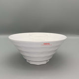 "White Textured Waves Melamine Bowl (7.5"" Dia.)"