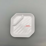 "Square Melamine Plate with Sauce Compartment (6"" x 6"")"