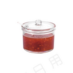 Clear Polycarbonate Condiment Jar with Lid