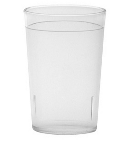 Clear Polycarbonate Pebbled Water Cup/Tumbler (9-16oz)