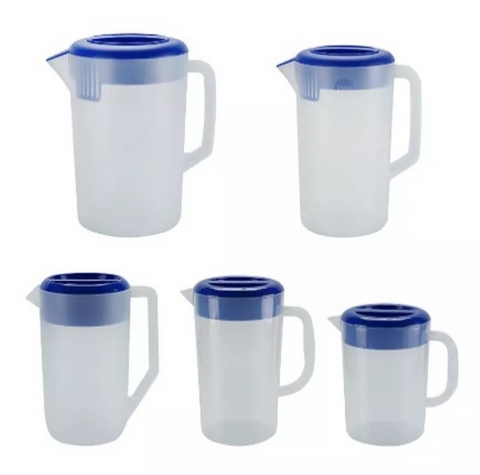 Plastic Water and Beverage Pitcher with Lid(1.5-5L)