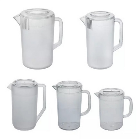 Clear Polycarbonate Water and Beverage Pitcher with Lid (2.4-5L)