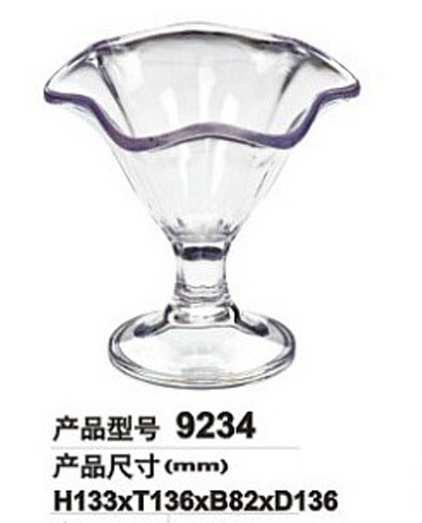 Clear Polycarbonate Iarge Ice Cream Cup